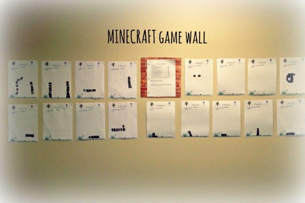 minecraft game wall